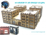10mm city center block building – all styles available