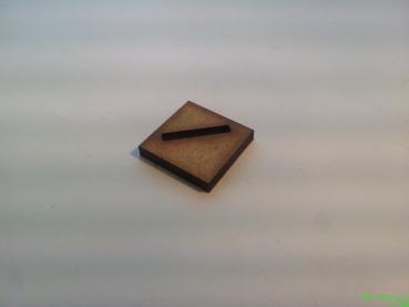 20er pack quadratische 20mm schr g geslottete mdf holz bases. Black Bedroom Furniture Sets. Home Design Ideas