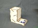 basic dice tower - wood